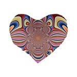 Pastel Shades Ornamental Flower Standard 16  Premium Heart Shape Cushions Back