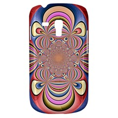 Pastel Shades Ornamental Flower Samsung Galaxy S3 MINI I8190 Hardshell Case