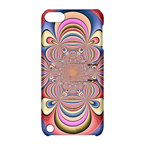Pastel Shades Ornamental Flower Apple iPod Touch 5 Hardshell Case with Stand