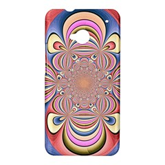 Pastel Shades Ornamental Flower HTC One M7 Hardshell Case