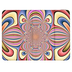 Pastel Shades Ornamental Flower Samsung Galaxy Tab 7  P1000 Flip Case