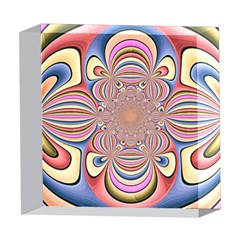 Pastel Shades Ornamental Flower 5  x 5  Acrylic Photo Blocks