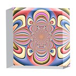 Pastel Shades Ornamental Flower 5  x 5  Acrylic Photo Blocks Front