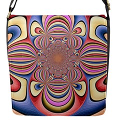 Pastel Shades Ornamental Flower Flap Messenger Bag (s)