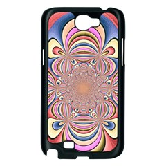 Pastel Shades Ornamental Flower Samsung Galaxy Note 2 Case (Black)
