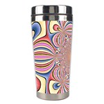 Pastel Shades Ornamental Flower Stainless Steel Travel Tumblers Left