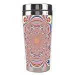 Pastel Shades Ornamental Flower Stainless Steel Travel Tumblers Center
