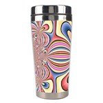 Pastel Shades Ornamental Flower Stainless Steel Travel Tumblers Right