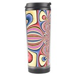 Pastel Shades Ornamental Flower Travel Tumbler Left