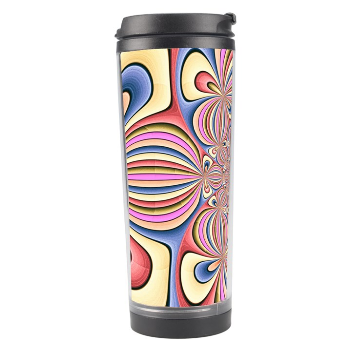Pastel Shades Ornamental Flower Travel Tumbler