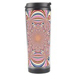 Pastel Shades Ornamental Flower Travel Tumbler Center