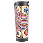 Pastel Shades Ornamental Flower Travel Tumbler Right