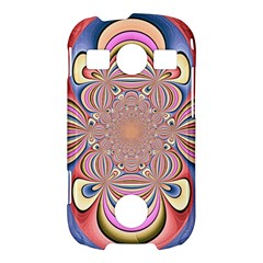 Pastel Shades Ornamental Flower Samsung Galaxy S7710 Xcover 2 Hardshell Case