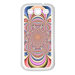 Pastel Shades Ornamental Flower Samsung Galaxy S3 Back Case (white)