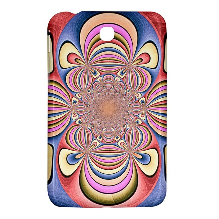 Pastel Shades Ornamental Flower Samsung Galaxy Tab 3 (7 ) P3200 Hardshell Case