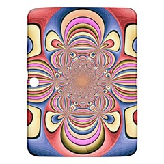 Pastel Shades Ornamental Flower Samsung Galaxy Tab 3 (10.1 ) P5200 Hardshell Case