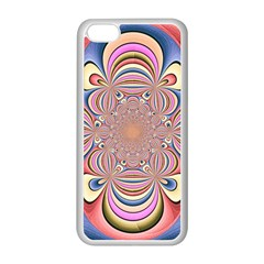 Pastel Shades Ornamental Flower Apple iPhone 5C Seamless Case (White)