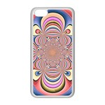 Pastel Shades Ornamental Flower Apple iPhone 5C Seamless Case (White) Front