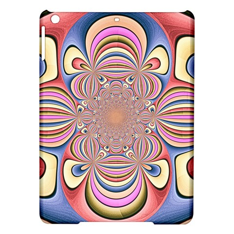 Pastel Shades Ornamental Flower iPad Air Hardshell Cases