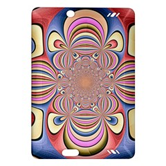 Pastel Shades Ornamental Flower Amazon Kindle Fire Hd (2013) Hardshell Case