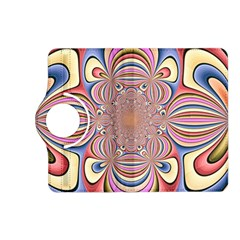 Pastel Shades Ornamental Flower Kindle Fire HD (2013) Flip 360 Case