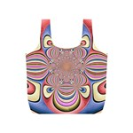 Pastel Shades Ornamental Flower Full Print Recycle Bags (S)  Front