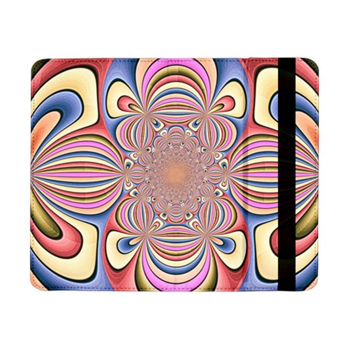 Pastel Shades Ornamental Flower Samsung Galaxy Tab Pro 8.4  Flip Case
