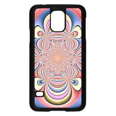 Pastel Shades Ornamental Flower Samsung Galaxy S5 Case (black)