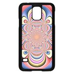 Pastel Shades Ornamental Flower Samsung Galaxy S5 Case (Black) Front