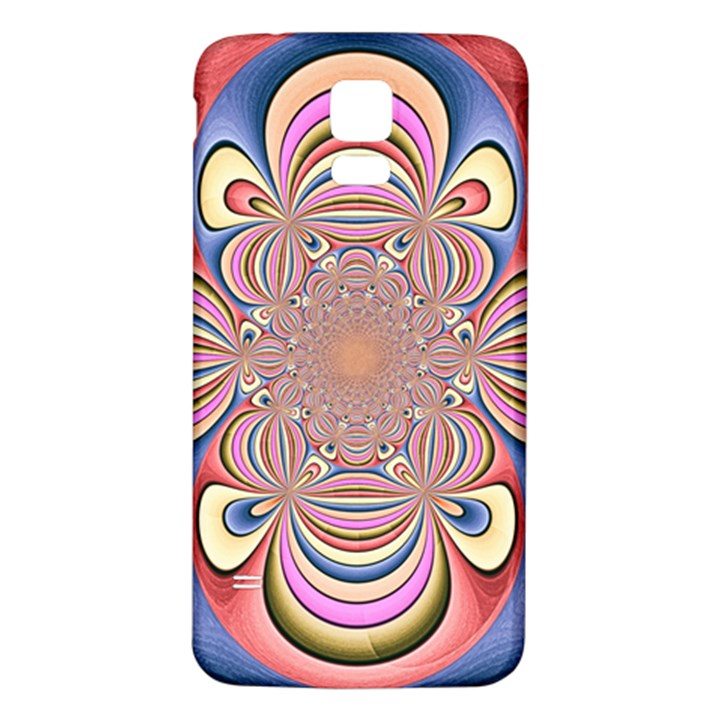 Pastel Shades Ornamental Flower Samsung Galaxy S5 Back Case (White)