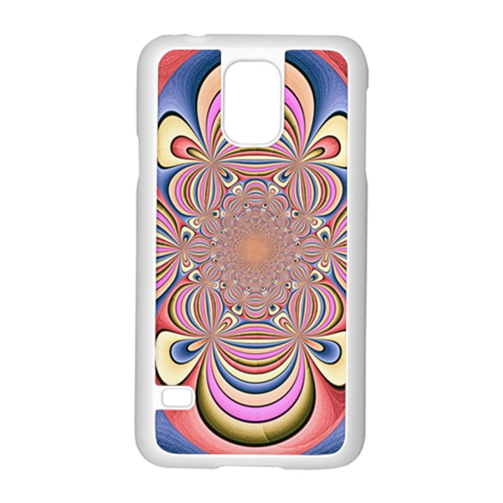 Pastel Shades Ornamental Flower Samsung Galaxy S5 Case (White)