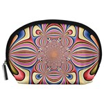 Pastel Shades Ornamental Flower Accessory Pouches (Large)  Front