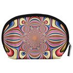 Pastel Shades Ornamental Flower Accessory Pouches (Large)  Back