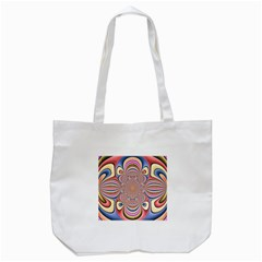 Pastel Shades Ornamental Flower Tote Bag (White)