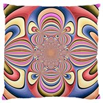 Pastel Shades Ornamental Flower Large Flano Cushion Case (One Side) Front