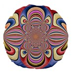 Pastel Shades Ornamental Flower Large 18  Premium Flano Round Cushions Front