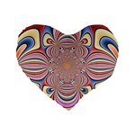 Pastel Shades Ornamental Flower Standard 16  Premium Flano Heart Shape Cushions Front