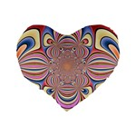 Pastel Shades Ornamental Flower Standard 16  Premium Flano Heart Shape Cushions Back