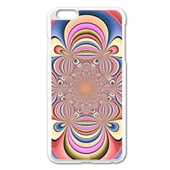 Pastel Shades Ornamental Flower Apple iPhone 6 Plus/6S Plus Enamel White Case