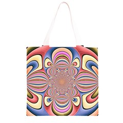 Pastel Shades Ornamental Flower Grocery Light Tote Bag