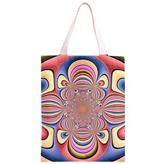 Pastel Shades Ornamental Flower Classic Light Tote Bag