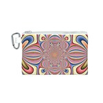 Pastel Shades Ornamental Flower Canvas Cosmetic Bag (S) Front