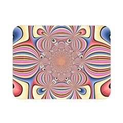 Pastel Shades Ornamental Flower Double Sided Flano Blanket (Mini)