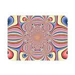 Pastel Shades Ornamental Flower Double Sided Flano Blanket (Mini)  35 x27 Blanket Back