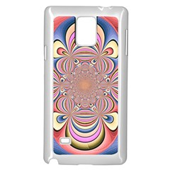 Pastel Shades Ornamental Flower Samsung Galaxy Note 4 Case (White)