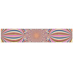 Pastel Shades Ornamental Flower Flano Scarf (Large)