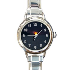Sunset Ocean Azores Portugal Sol Round Italian Charm Watch