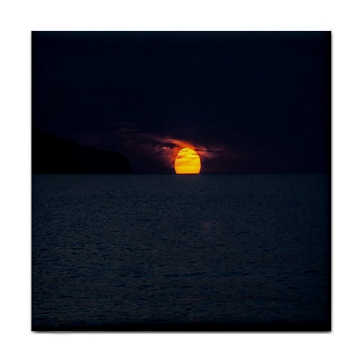 Sunset Ocean Azores Portugal Sol Tile Coasters