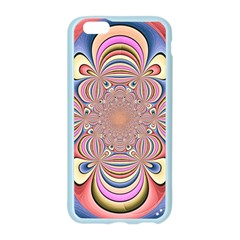 Pastel Shades Ornamental Flower Apple Seamless iPhone 6/6S Case (Color)
