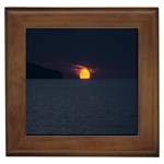 Sunset Ocean Azores Portugal Sol Framed Tiles Front